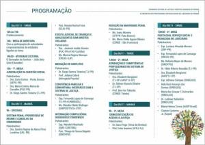 Seminario Sistema de Justiça e Direitos Humanos no Paraná - PROGRAMAÇÃO