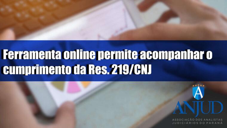 Ferramenta online permite acompanhar o cumprimento da Res. 219/CNJ