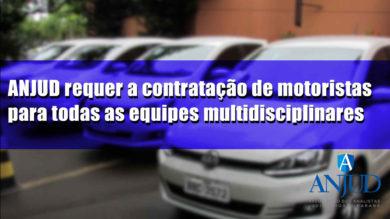 ANJUD requer a contratação de motoristas para todas equipes multidisciplinares