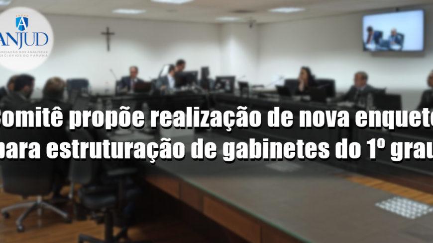 Comitê propõe realização de nova enquete para estruturação de gabinetes do 1º grau