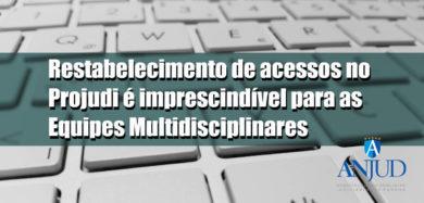 Restabelecimento de acessos no Projudi é imprescindível paras as Equipes Multidisciplinares