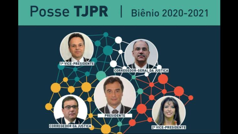 Nova Cúpula Diretiva do TJPR toma posse nesta segunda-feira
